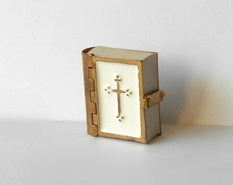 Miniature Holy Bible Old Testament Metal Bound