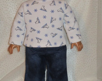 """2 Pc. 18"""" Doll Clothes Outfit  Turtleneck & Pants Fits American Girl Doll"""