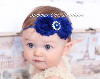 Baby Headband, Infant Headband, Newborn Headband, Royal Blue Baby Headband, Royal Blue Headband, Blue Headband