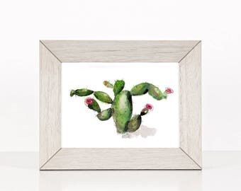 Cactus art print,  watercolor painting, southwest, succulent art, giclee art print, contemporary art print from original watercolor painting