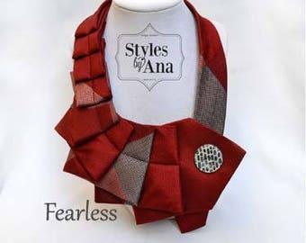Necktie Necklace, Unique Finds, Statement Necklace, Collar, Women Fashion,Refashioned Clothing, Collar Necklace,Necktie Scarf,Spring Trends