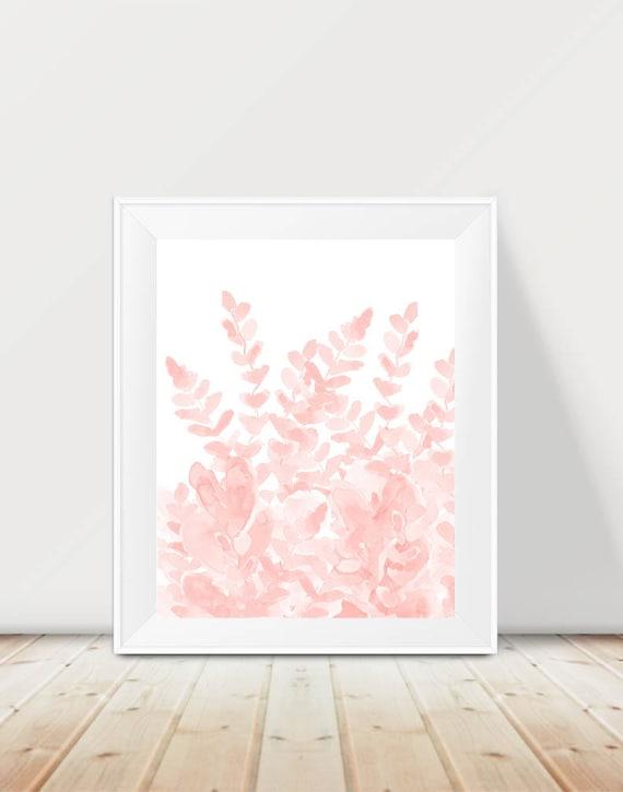 Fern Print in Blush, 11x14