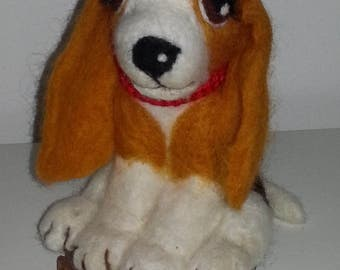 Lady, Needle Felted Beagle