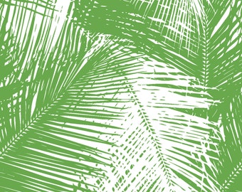 Palms Green Removable Wallpaper