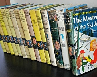 Vintage Nancy Drew Hardcover Books With Jacket Sleeves 1950s and 1960s Publication Dates Vintage Nancy Drew Collection Carolyn Keene