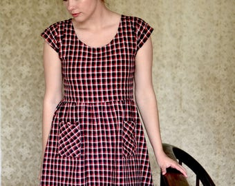 Best Case Scenario Dress  / Simple Dress / Casual Dress / Plaid Dress / Summer Dress / Tunic / Smock Dress for Women / Oversized Dress