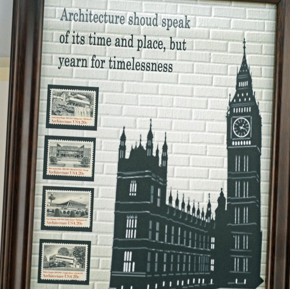 Architect Gift Original Stamp Art Great Gift For New Graduate