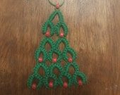 Tatted Christmas Tree Ornament