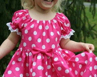 Pink Minnie dressup, Minnie Mouse Dress Up, Every Day Play Wear, Handmade