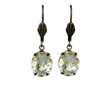 Jonquil Swarovski Earring, Swarovski Earring, Lemon Earring