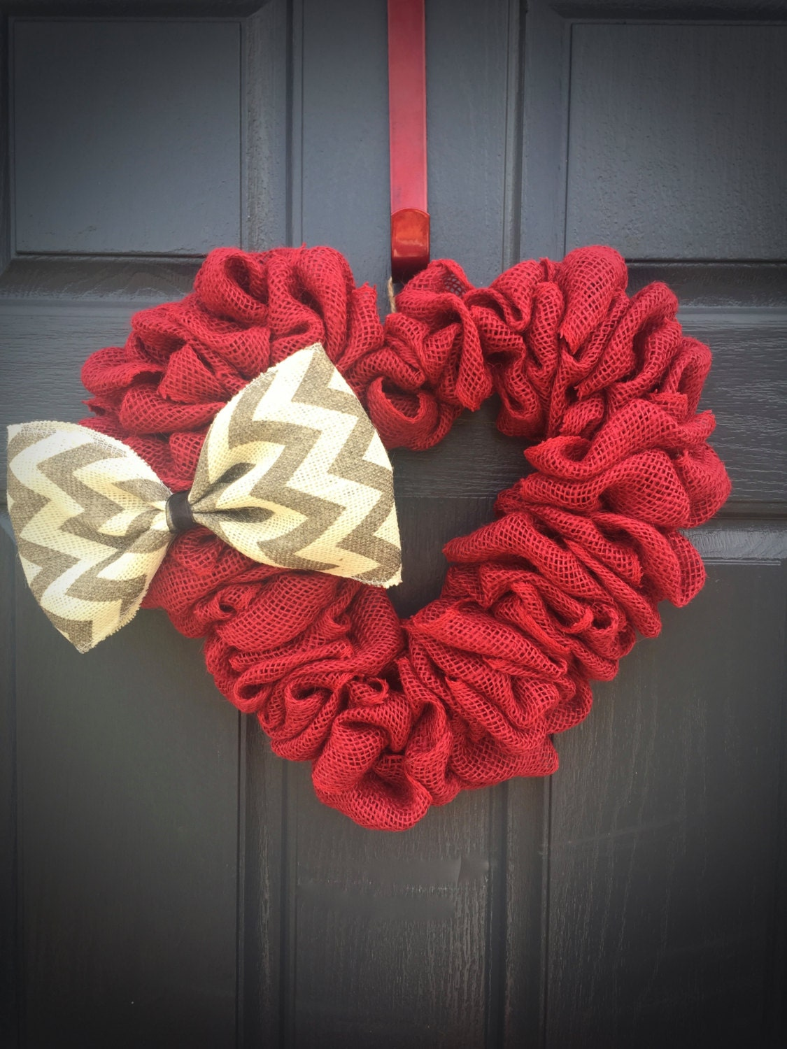 Red heart wreaths decor decorations