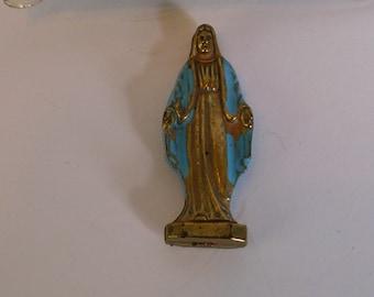 Vintage Lady of Grace pocket shrine.