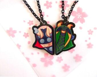 Thor & Loki BFF Necklace Set