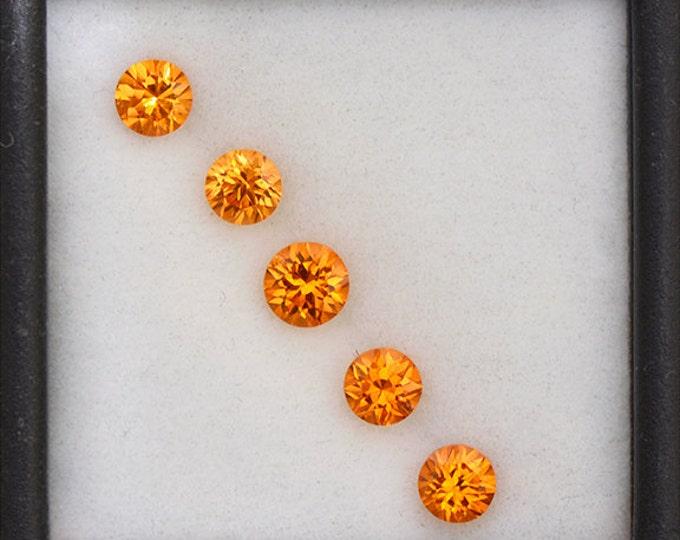 Bright Orange Spessartine Garnet Set of Gemstones from Nigeria 2.12 tcw.