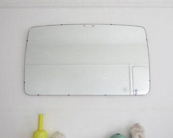 Vintage Modernist Mid Century Mirror Extra Large