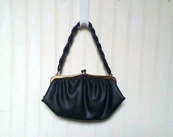 vintage evening bag, black, black purse, vintage, black bag, Vintage Black Purse, black handbag, black evening bag