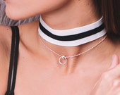 Let Me Know Choker - 925 silver minimal choker, 925 silver choker, silver collar necklace, minimal jewelry choker necklace