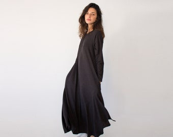 Women's Loose Maxi Dress, Oversized Dress, Black kimono, Cotton Dress, Maxi Dresses Women, Plus Size Dress, Bohemian Maxi Dress, Kaftan