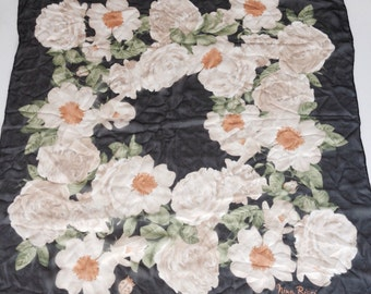 Vintage Nina Ricci  Silk Scarf  Rolled Edges Made in ITALY