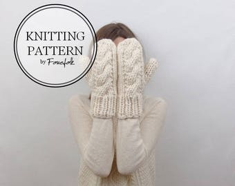 Knitting Pattern | Cable Knit Mittens | THE CARDIFFS Instant Download