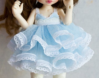 Blue tulle dress for Realfee
