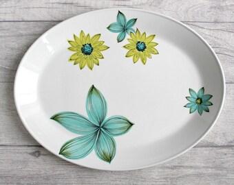 Retro Platter, Vintage Serving Plate, Oval Platter, Johnson Brothers Snowhite, Vintage Platter, Retro Home, Vintage Home, Vintage Serving