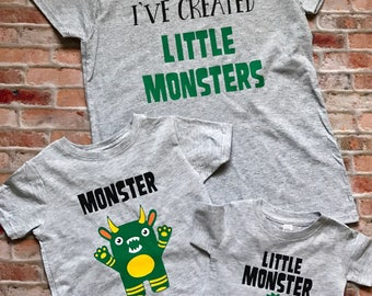 I've Created Little Monsters, I've Created a Monster, Monster Shirt, Mommy and Me Set, Mother's Day gift, Fathers Day Gift, Daddy and me set