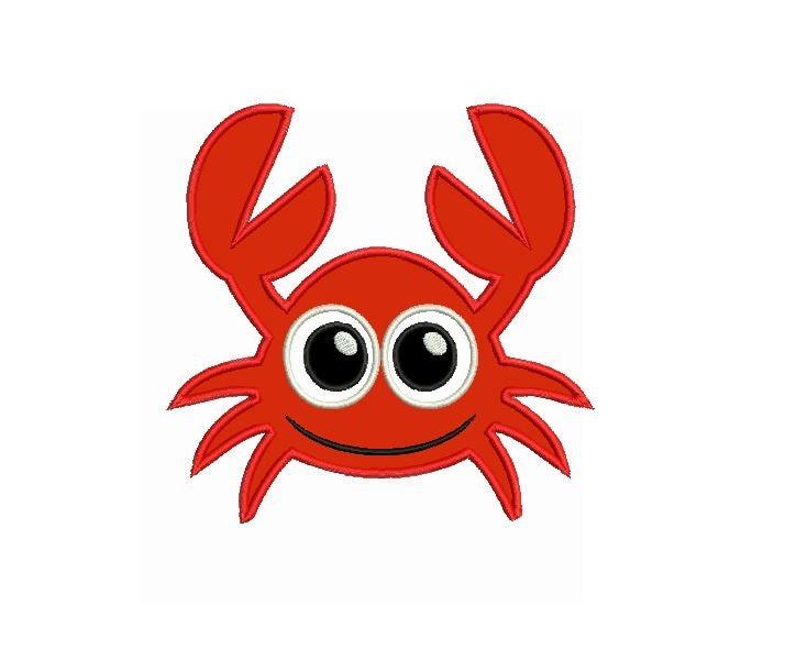 crab applique design file for embroidery machine monogram