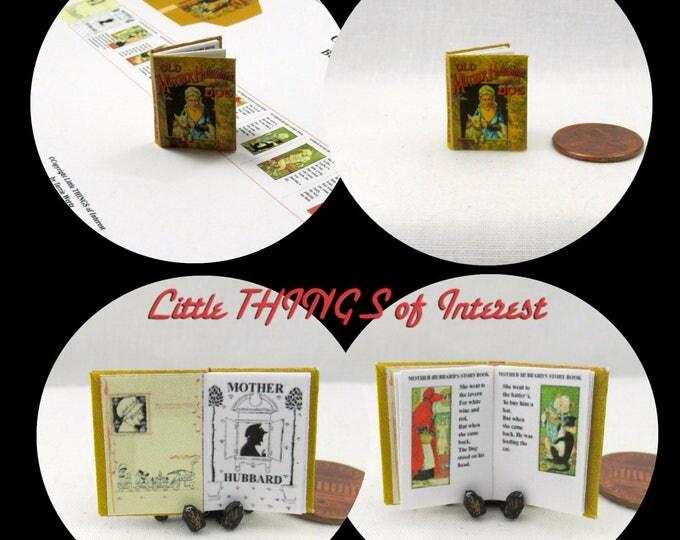 1:12 Miniature Dolls House 12th Scale MOTHER HUBBARD Downloadable Miniature Book Dog Bone Cupboard Bare Nursery Rhyme Tale