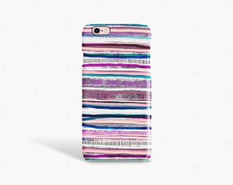 iPhone 7 Case Stripe iPhone 6 Case, Winter Stripey iPhone Case Cute iPhone Case iPhone Case Purple iPhone Case Pink iPhone Case