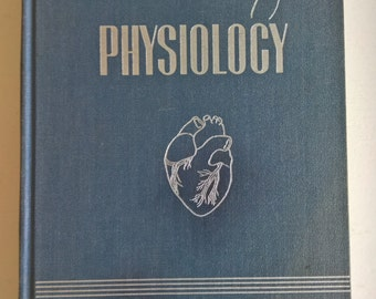Textbook of Physiology by William D. Zoethout & W. W. Tuttle Vintage 1940's Human Anatomy Medical Book Mid-Century Doctor Library Home Decor