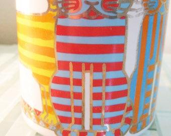 """Waechtersbach Coffee Mug Cat Cup Modern Cool Cats Abstract 4"""" Oversized"""