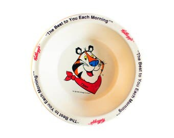Vintage 1995 Kellogg Cereal Bowls Tony The Tiger Small Plastic Bowl SET OF 2 vintage 90s cereal brand bowls