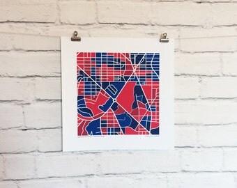 American University Map Print