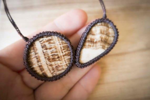 Brown aragonite necklace