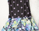 2-3 years purple polka dot twirl skirt dress. Ready to ship. Little Lapsi