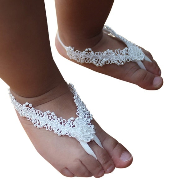 White Baby Sandals, Barefoot Sandals, Baby Barefoot, Sandals For Babies, White Sandals, Baby Shoes, Crib Shoes, Baptism Sandals