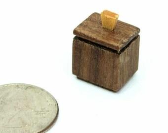 Dollhouse Miniature Accessory, Miniature Jewelry Box, Mini Wood Box, Mini Box, Dollhouse Accessory, Small Jewelry Box, Doll Jewelry Box