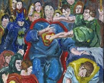 Superman Art Print - Superman as Christ - after El Greco - Superman Batman