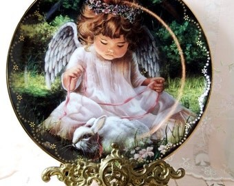 "1995, Bradford Exchange Collector's Plate ""An Angel's Kindness"" by Donna Brooks, First Issue of Heaven's Little Sweethearts"