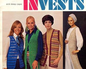 1960's Columbia-Minerva Crocheted Vest & Skirt Booklet 2517