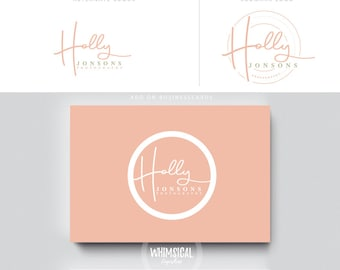 siganture handwriting logo pen initials businesscards  simple modern feminine branding- logo Identity artist makeup wedding photographer