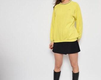 Vintage 90's Adidas Neon Yellow Sweatshirt / Adidas Golf Jumper - Size Large