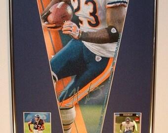 Chicago Bears Devin Hester Pennant & Cards...Custom Framed!!!
