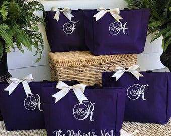 Bridal Party Tote Bags | Bridesmaids Gifts | Tote Bag | Monogrammed | Bachelorette Party Gift | Wedding Bag | Bridesmaids Bags