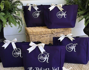 Bridal Party Tote Bags | Bridesmaids Gifts | Tote Bag | Monogrammed | Bachelorette Party Gift | Wedding Bag | Bridesmaids Bags Gift Ideas