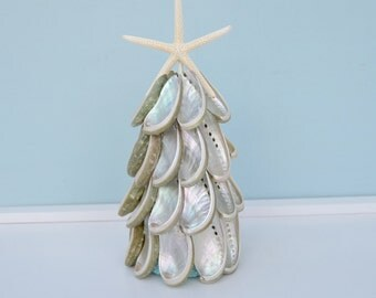 Nautical Christmas, Christmas Beach Decor, Seashell Christmas Trees, Coastal Christmas Decor, Shell Christmas Tree, Beach Decor