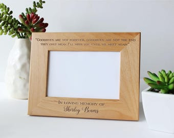 personalized picture frame sympathy gift in loving memory memorial engraved picture frame - Engraved Frame