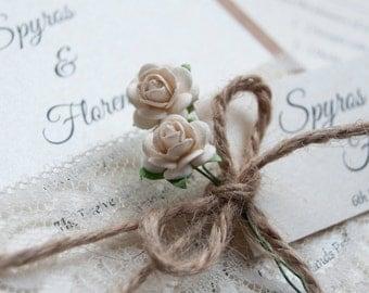 Roses & Lace Wedding Invitation