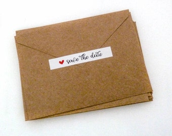 Save the Date Sticker - 40 Count - 22 Colors - Envelope Seal - 3.0 x 0.5 in. - Save the Date Seal - Wedding Sticker - Wedding Label - WS4